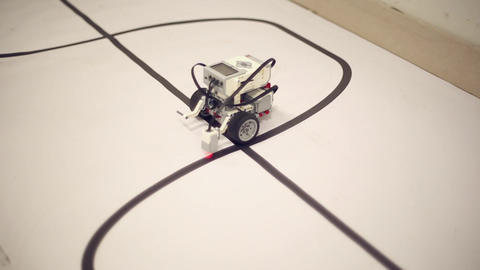 Robot with motion sensor Footage