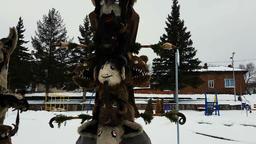 Kukeri Bulgarian mummers' masks in UHD 4K Footage