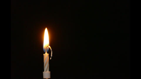 Burning Candle Time-Lapse Stock Video Footage