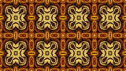 Colorful modern abstract ornamental kaleidoscope - brown pattern Animation