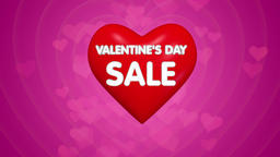 Happy Valentines day title sale or discount offer concept Footage