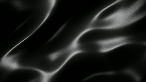 Black wavy fabric motion background seamless loop Animation