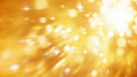 Abstract blurry gold particles motion background seamless loop Animation