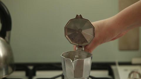 Coffee preparation process Footage