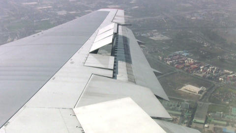 Turn of aircraft Stock Video Footage