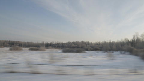train winter background sound Stock Video Footage