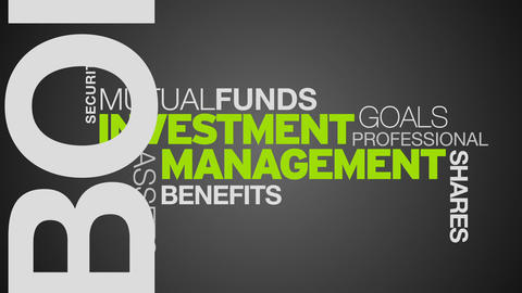 Investment Management Word Cloud Animation Stock Video Footage