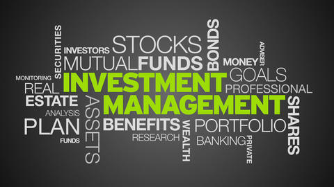 Investment Management Word Cloud Animation Animation