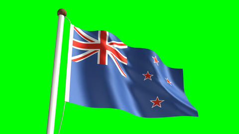 New Zealand Flag stock footage