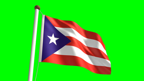 Puerto Rico flag Stock Video Footage
