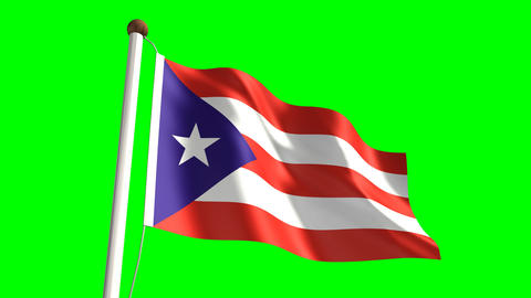 Puerto Rico flag Animation
