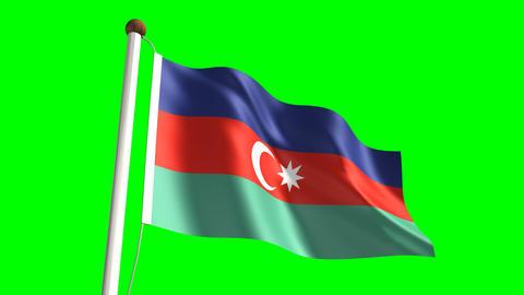 Azerbaijan flag Stock Video Footage