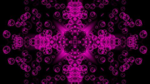 bubble & waterdrop shaped flower pattern Stock Video Footage