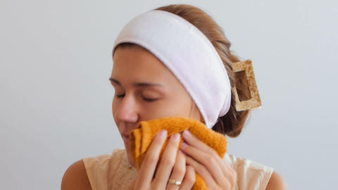 Face Cleaning Stock Video Footage