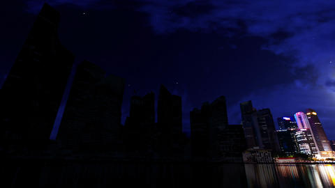 City Skyscrapers Blackout Stock Video Footage