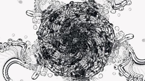 crystal glass flower mandala fancy pattern,plant vines... Stock Video Footage
