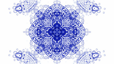 crystal glass religion flower mandala fancy pattern,plant... Stock Video Footage
