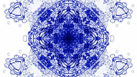 crystal glass religion flower mandala fancy pattern,plant vines growing,rotation Animation