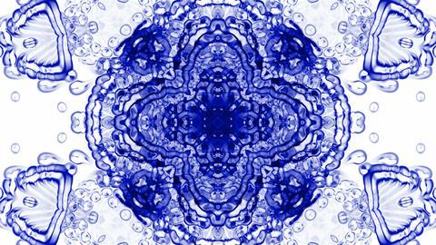 crystal glass religion flower mandala fancy pattern,plant... Stock Video Footage