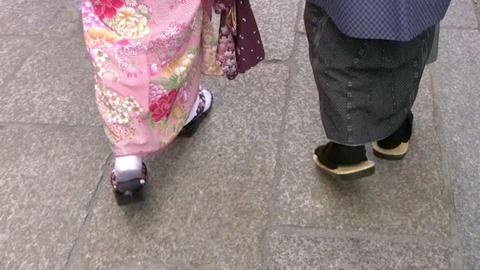 Japanese feet Stock Video Footage