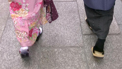 Japanese Feet stock footage