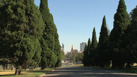 View from the Melbourne Shrine Stock Video Footage