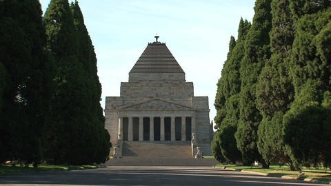 Melbourne Shrine of Remembrance Stock Video Footage