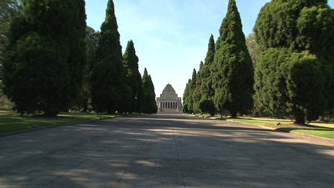 Melbourne Shrine of Remembrance Footage