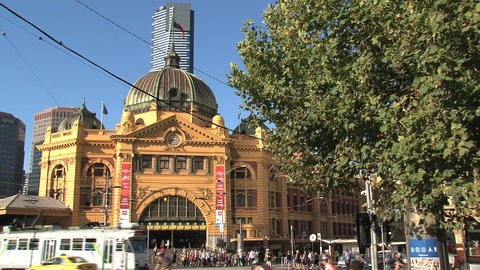 Flinders station Footage