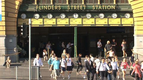 Flinders station close up Footage