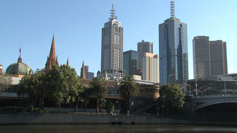 Yarra River Downtown stock footage