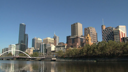 Skyline Melbourne with the yarra river Footage