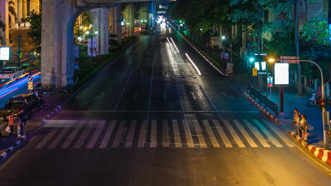 TRANSPORTATION TIME LAPSE AT NIGHT Stock Video Footage