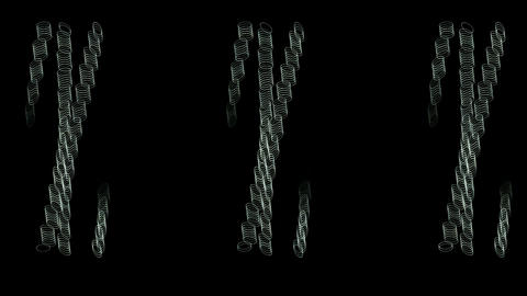 rotation spring metal background Stock Video Footage
