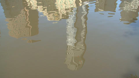 Water reflextion of the Eureka tower Stock Video Footage