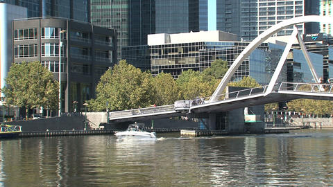 Speedboat at the yarra river Footage