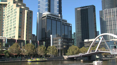 Speedboat at the yarra river Stock Video Footage