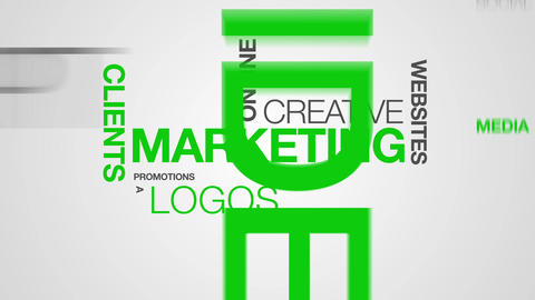 Marketing Word Cloud Animation Stock Video Footage