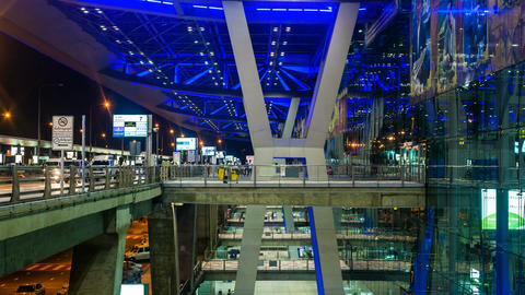 4K - Bangkok Suvarnabhumi Airport Stock Video Footage