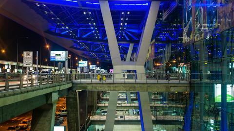 4K - Bangkok Suvarnabhumi Airport Stock Video Footage