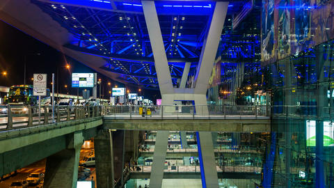 4K - Bangkok Suvarnabhumi Airport stock footage