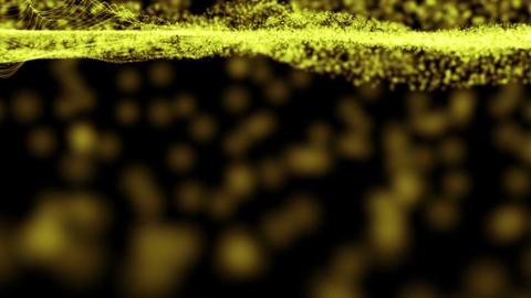 M78 黄色に光る底の波 Stock Video Footage