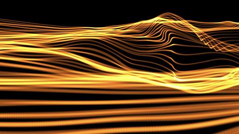 M78 光る線の波 Stock Video Footage