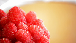 Raspberries  Loop  Gyrating stock footage