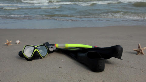 It's time for snorkeling! Stock Video Footage