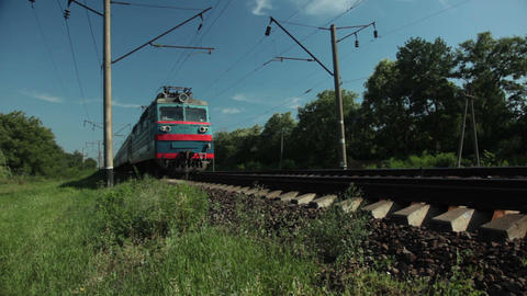 Train Passes stock footage