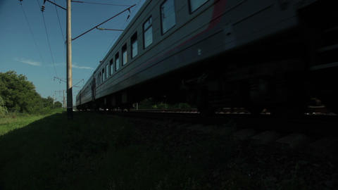 Train passes Stock Video Footage