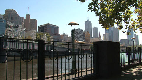 Boulevard near the yarra river Stock Video Footage