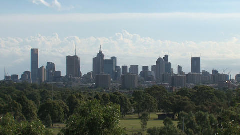 Melbourne skyline Live Action