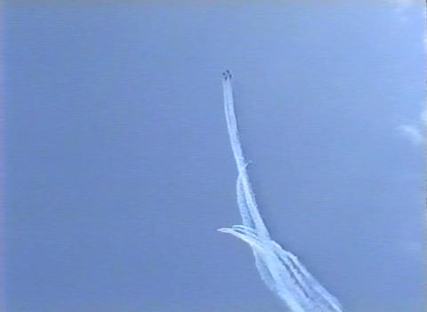 Ramstein Airshow Disaster last figure 10905 Stock Video Footage